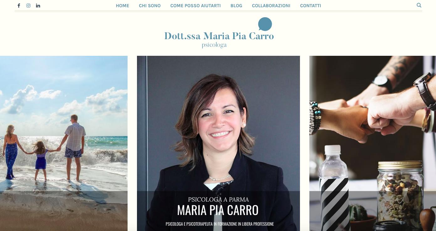 maria pia carro, creazione testi sito web, servizio di copywriting
